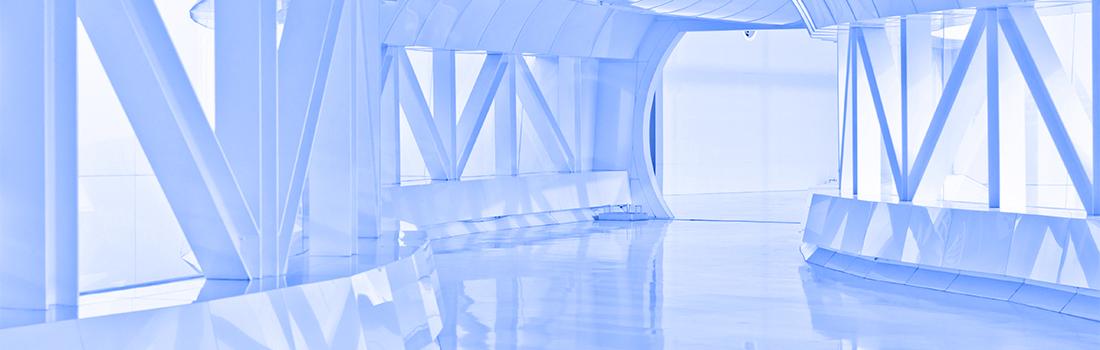 Architektur: Futuristischer Korridor